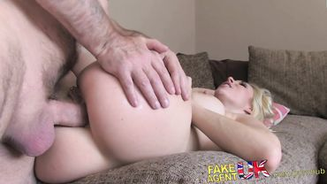 Dazzling European blonde with a killer body loves sucking dick before deep anal drilling