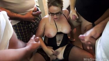 Dee Siren participates in a wife sharing gang bang and she loved it
