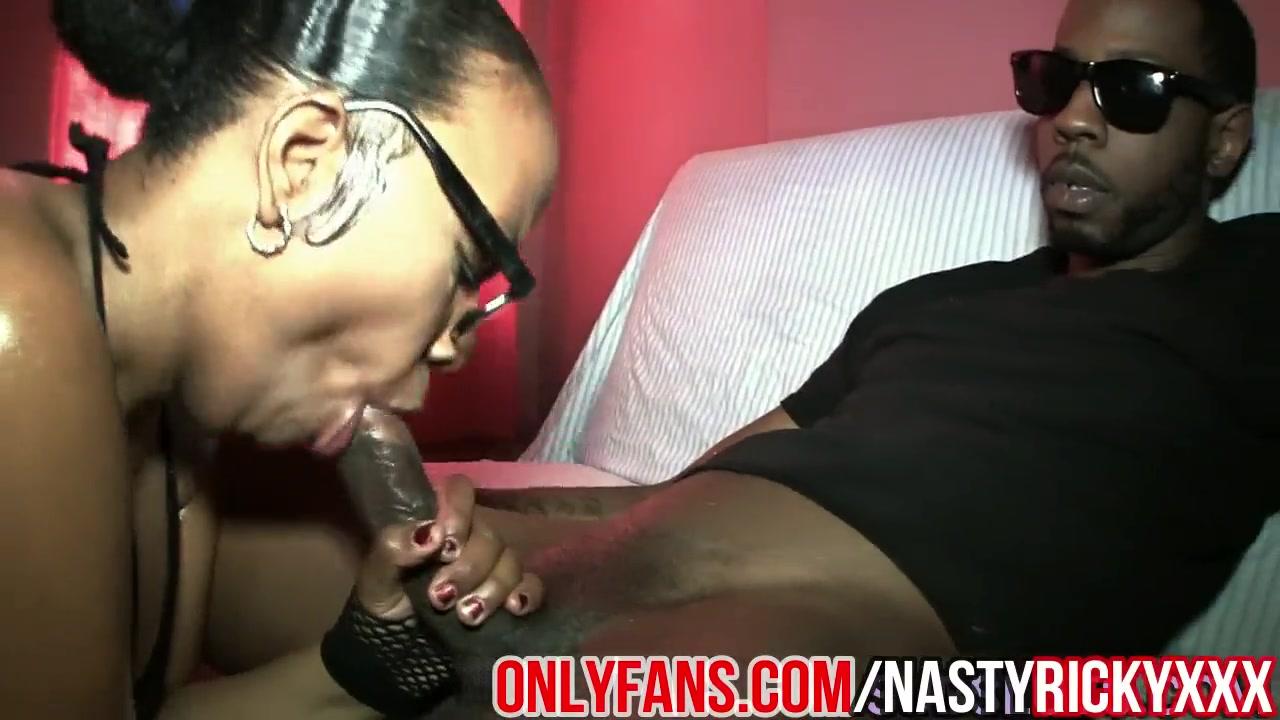 Ebony Bbw Bbc Sloppy Blowjob
