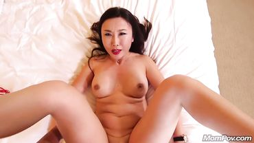 Exotic Asian MILF receives a thick facial after balls deep and hardcore fucking