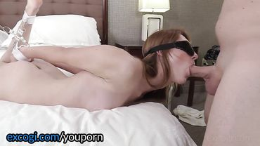 Adorable redhead receives a thick facial after balls deep and hardcore pounding