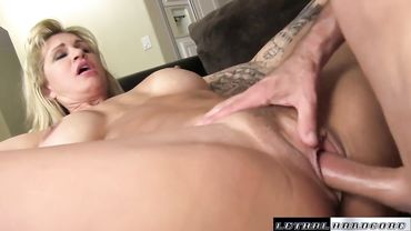 Ryan Conner fucks a tight shaved pussy after a nice hot POV blowjob