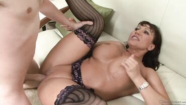 Big tits of Ava Devine bouncing through missionary banging
