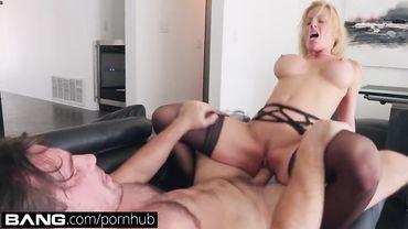 Blonde MILF Alexis Fawx swallows loads of cum after being drilled balls deep