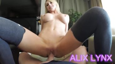 Pornstar Alix Lynx in a sexy blackmail daughter porn video with her stepdad