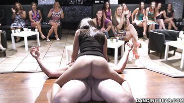 Natalia Mendez, Skyler Luv and Sophia Torres are sucking dicks in hardcore orgy