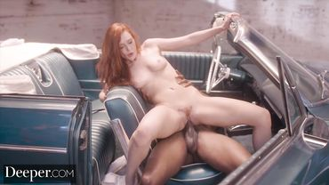 Creampie for a cute redhead with a trimmed pussy called Lacy Lennon