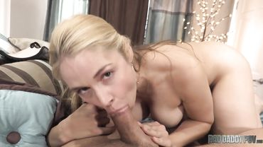 Mesmerizing MILF with long hair pleases her man like a real fucking whore