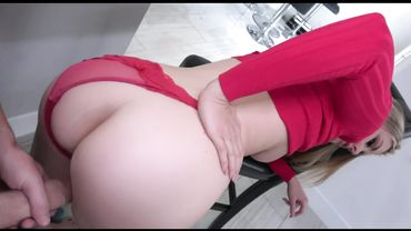 MILF with a big ass Addie Andrews lets her son tap her pussy