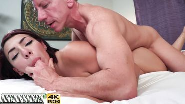 19 year old Latina chick Valentina Jewels enjoys banging with a dirty grandpa