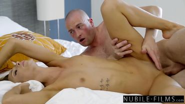 Emma Hix takes a big dick in her small butt and enjoys it