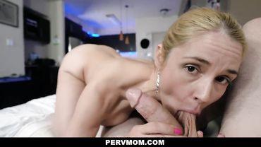 Sarah Vandella sucks a big cock and lets it plow her big ass