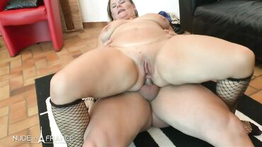 Rough sex for a cock addicted blonde BBW who loves getting her pussy drilled