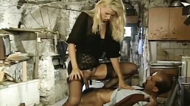 Czech MILF sucks dick and fucks rough in a really dirty house