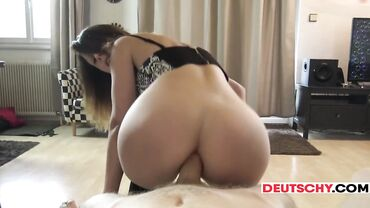Amateur cutie with a small bubble butt enjoys an ass fuck with a cock
