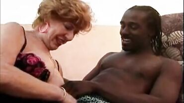Horny redhead granny know what she wants - a young big black dick