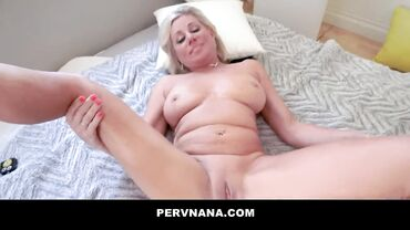 Horny Tanned Blonde Payton Hall Banged Her Step Son